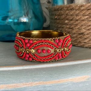 Beaded Bangle Hinged Bangle Bracelet